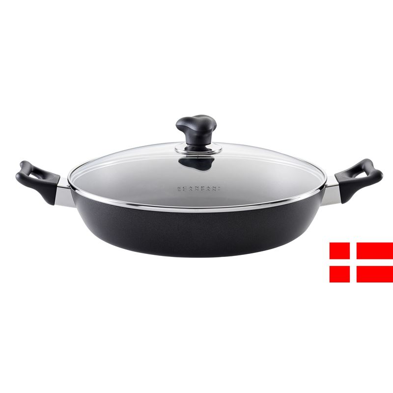 Scanpan – Ergonomic Handled Stratanium Non-Stick Covered Chef's Pan 32cm (Made in Denmark)