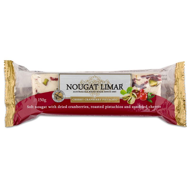Nougat Limar – Cherry, Cranberry and Pistachio Nougat Half Log 150g(Made in Australia)