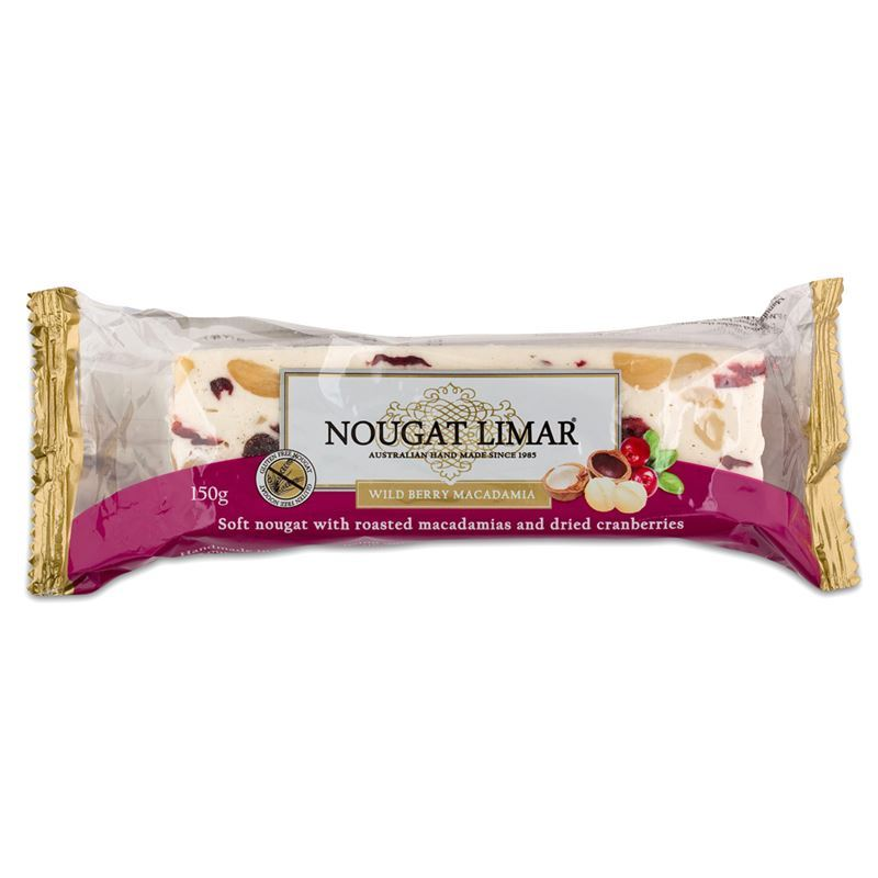Nougat Limar – Wild Berry and Macadamia Nougat Half Log 150g(Made in Australia)