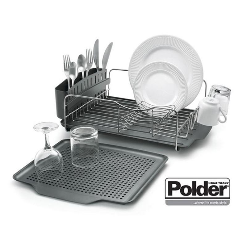 Polder – Advantage 4pc Dish Rack System Graphite
