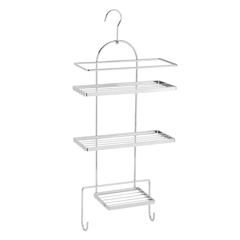 Zuhause – Deluxe Multi-Tier Chrome Shower Caddy 25×10.8×53.5cm