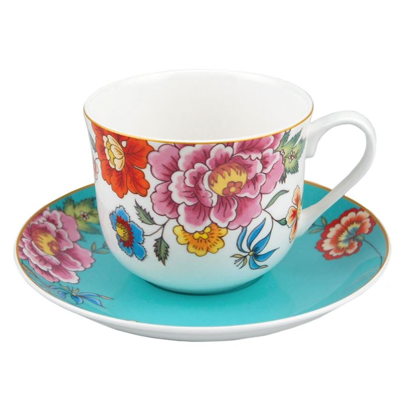 Dan Samuels – Imari Fine Bone China Gift Boxed Breakfast Cup and Saucer Set 370ml Turquoise