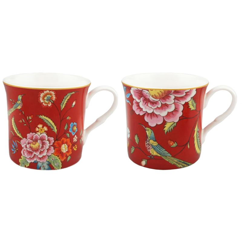 Dan Samuels – Imari Fine Bone China Set of 2 Mugs 300ml Red