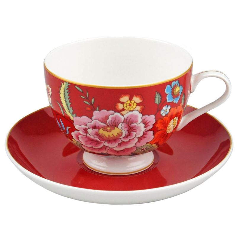 Dan Samuels – Imari Fine Bone China Tea Cup and Saucer Set 210ml Red