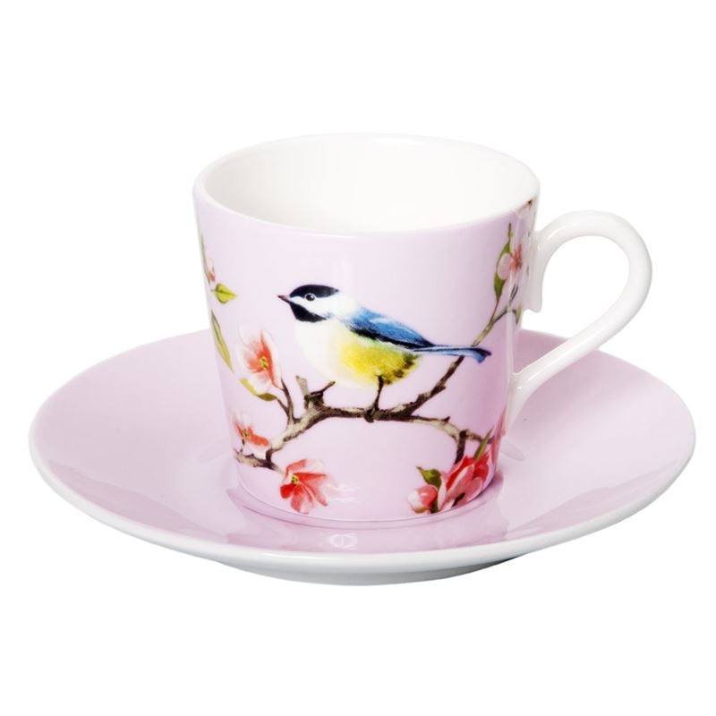 Dan Samuels – Blossom Bird Fine Bone China Espresso Cup and Saucer Set 80ml Pink