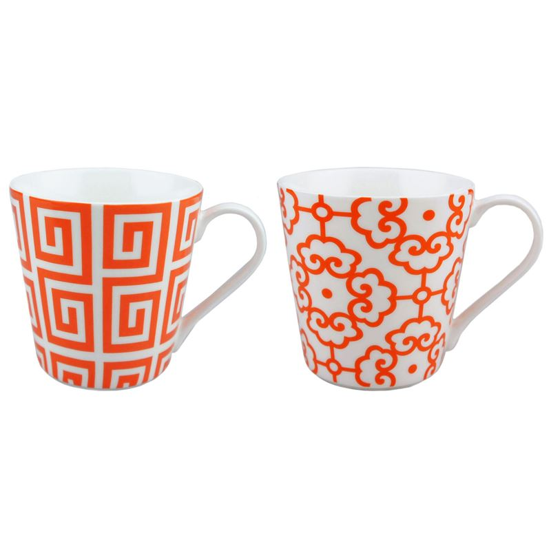 Dan Samuels – Moda Fine China Set of 2 Mugs 250ml Tangerine