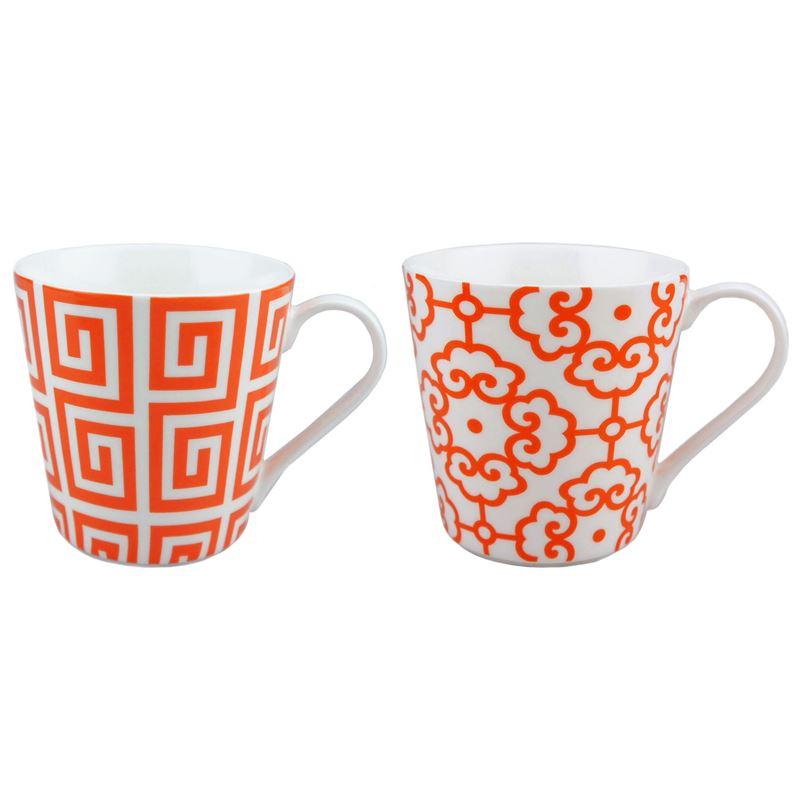 Dan Samuels – Moda Fine China Set of 2 Mugs 250ml Tangerine