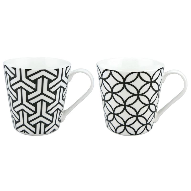 Dan Samuels – Moda Fine China Set of 2 Mugs 250ml Noir