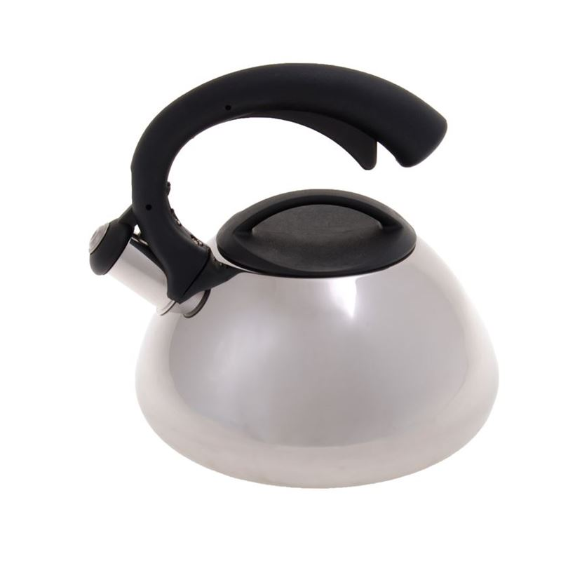 Benzer – Dome Stove Top Polished Mirror Stainless Steel Whistling Kettle 2.5Ltr