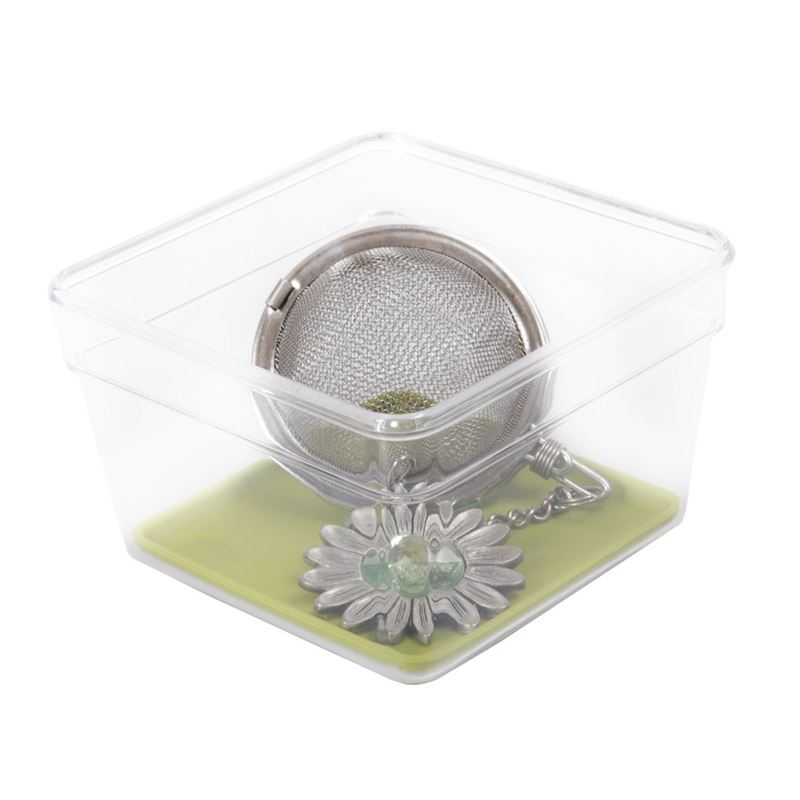 Zuhause – Stor-Rite Organiser Tray with Silicone  Inlay 8x8cm Avocado