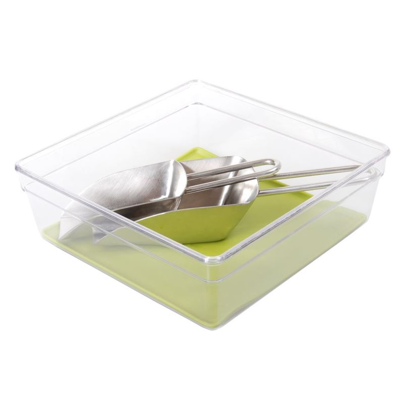 Zuhause – Stor-Rite Organiser Tray with Silicone  Inlay 15x13cm Avocado