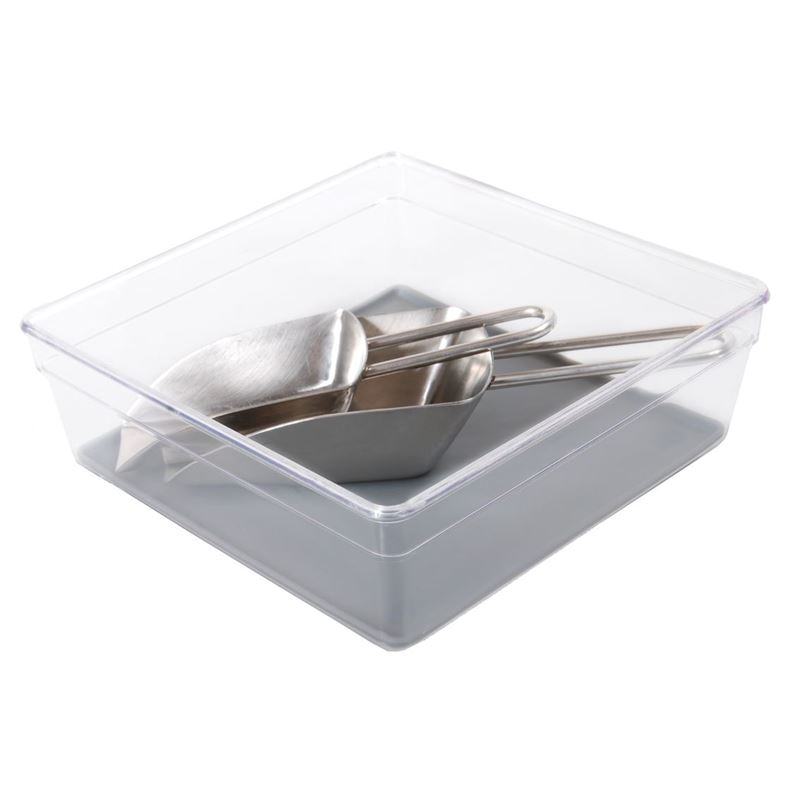 Zuhause – Stor-Rite Organiser Tray with Silicone  Inlay 15x13cm Charcoal