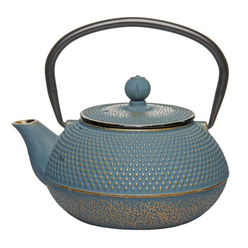 Benzer – Orient Express Zen Cast Iron Tea Pot Golden Blue 800ml