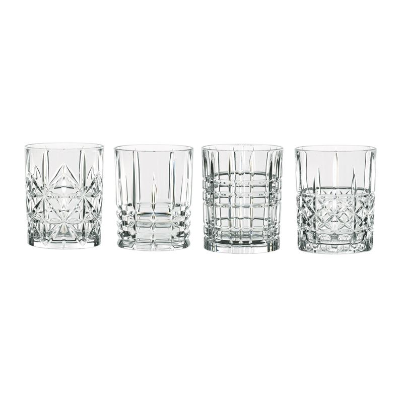 Nachtmann Crystal – Highland Mixed Tumbler 345ml Set of 4 (Made in Germany)