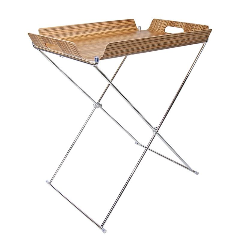 Zuhause – Jasper Designer Collection Niklas Bar Tray Table Zebrano 55x40cm
