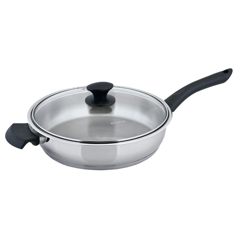 Benzer – Rosti 28cm Saut Pan with Lid 18/10 Stainless Steel