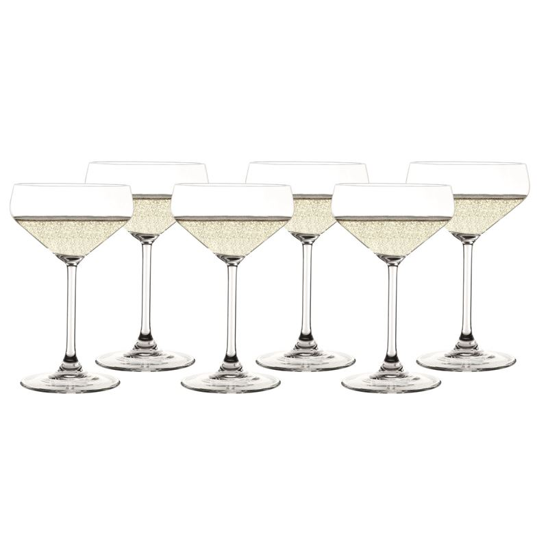 Zuhause – Style Champagne Coupe 290ml Set of 6(Made in Germany)