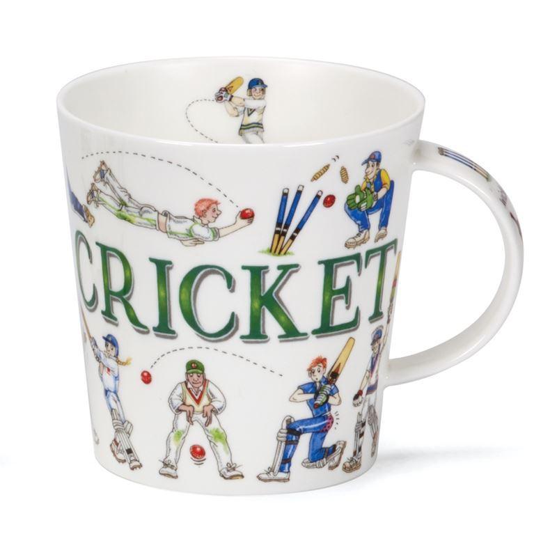 Dunoon – Cairngorm Bone China Mug Sporting Antics Cricket (Made in England)