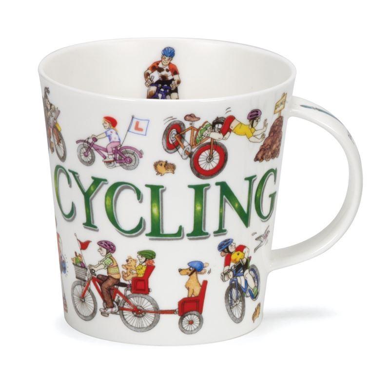 Dunoon – Cairngorm Bone China Mug Sporting Antics Cycling (Made in England)