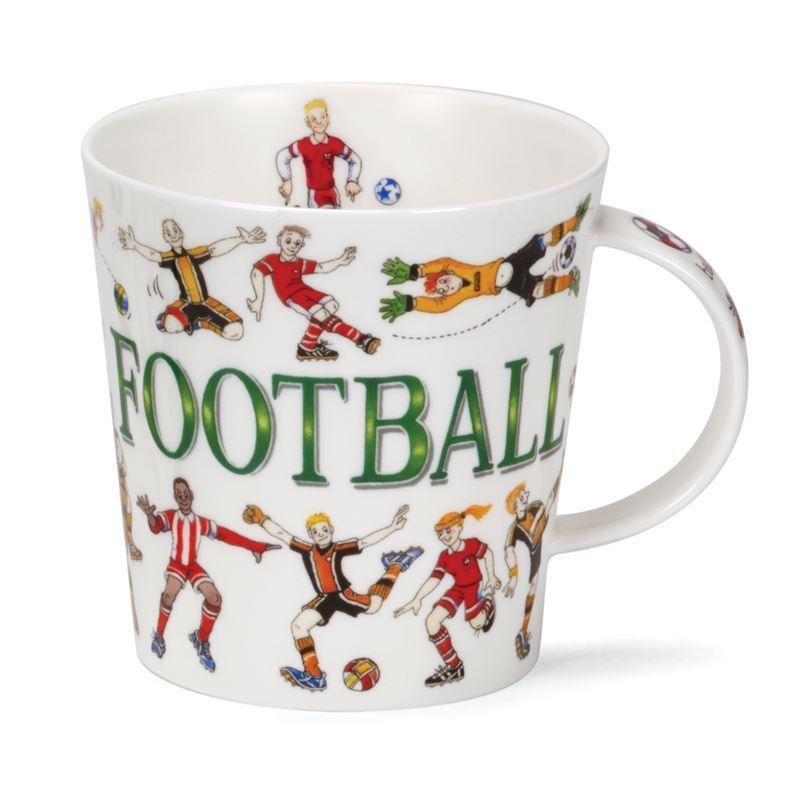 Dunoon – Cairngorm Bone China Mug Sporting Antics Football (Made in England)