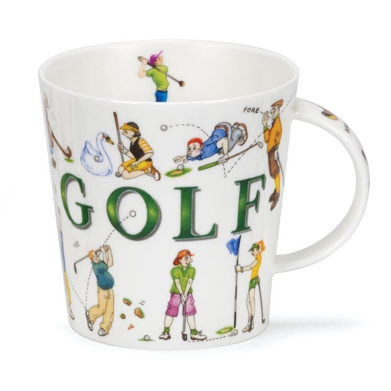 Dunoon – Cairngorm Bone China Mug Sporting Antics Golf (Made in England)