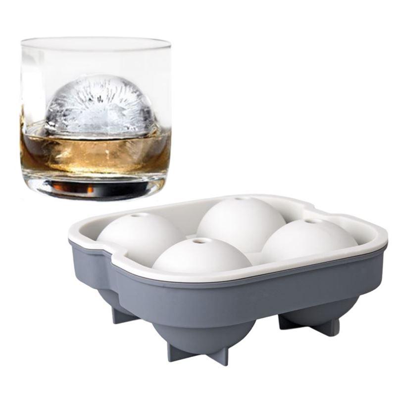 samsam – Sphere Jumbo Ice Ball Mould – 4 Balls Grey