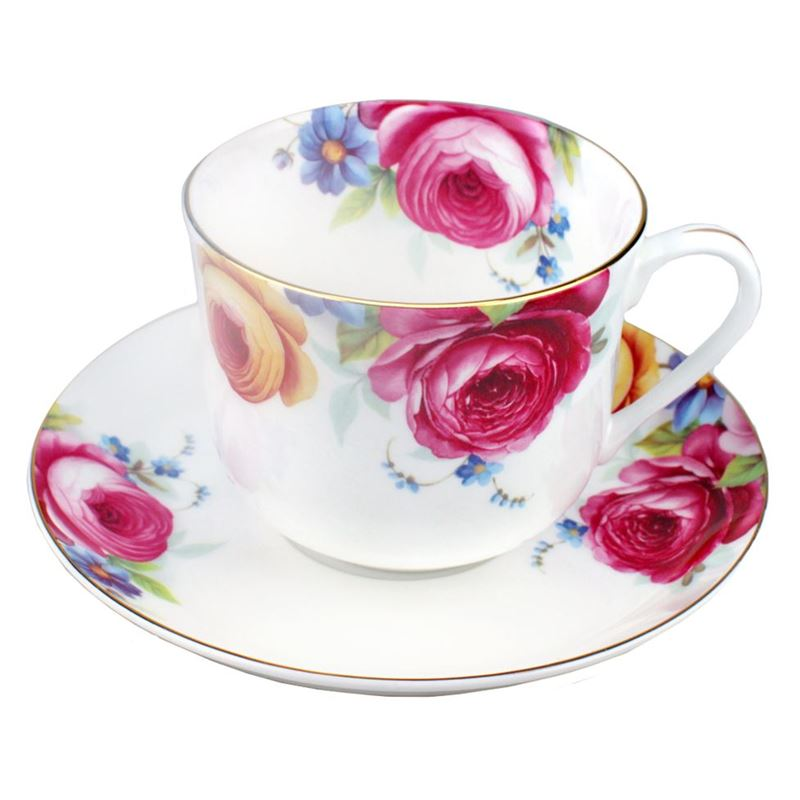 Dan Samuels – Florabelle Fine Bone China Breakfast Cup and Saucer 370ml Camilla