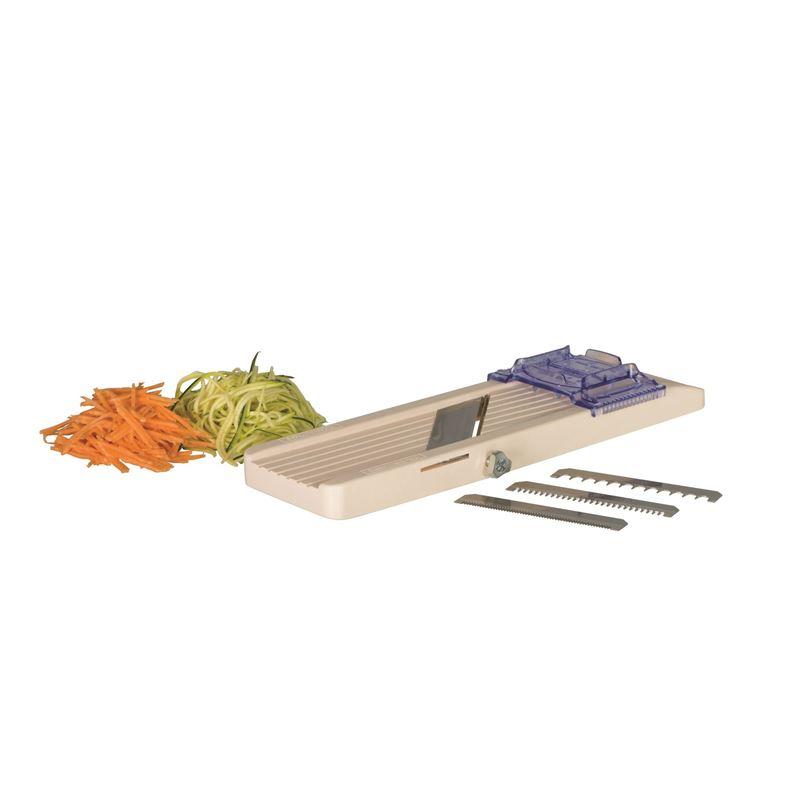 Benriner – No. 1 Vegetable Slicer 64mm – Thickness 0.3mm-5mm Interchange Blades (Made in Japan)