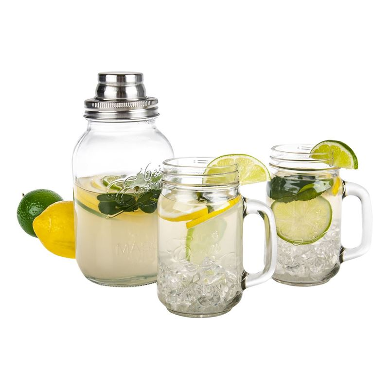 Mason Jar – Cocktail Shaker and Mug 3pc Set