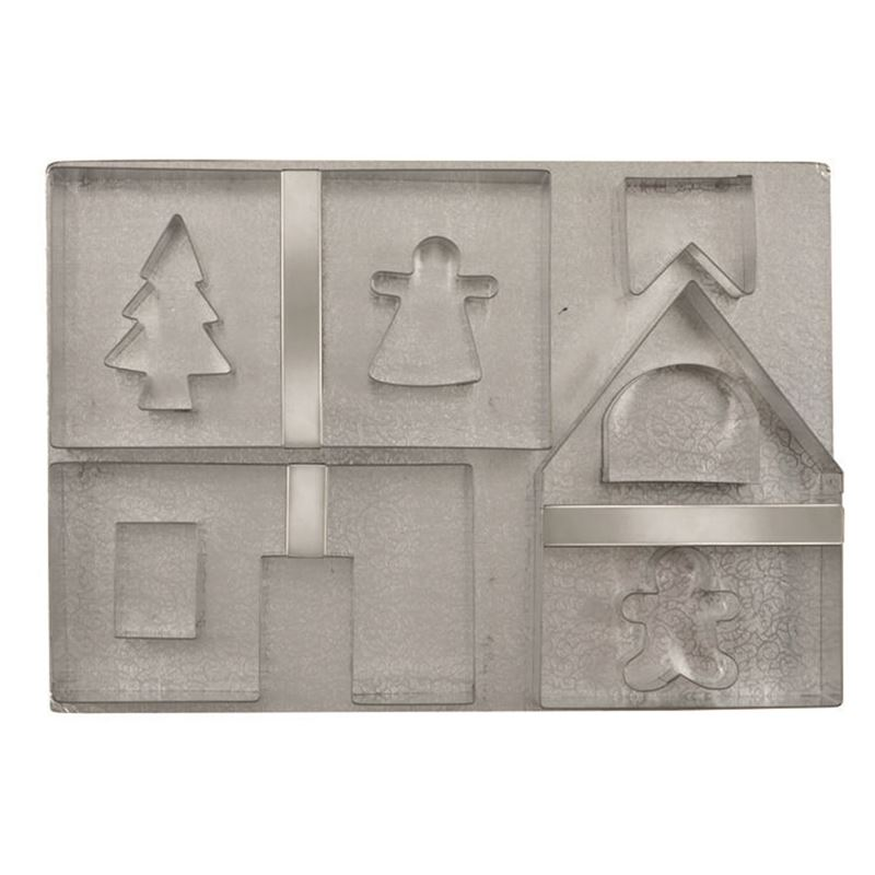 Avanti – Gingerbread House Christmas Cutters set of 10 with Base Board