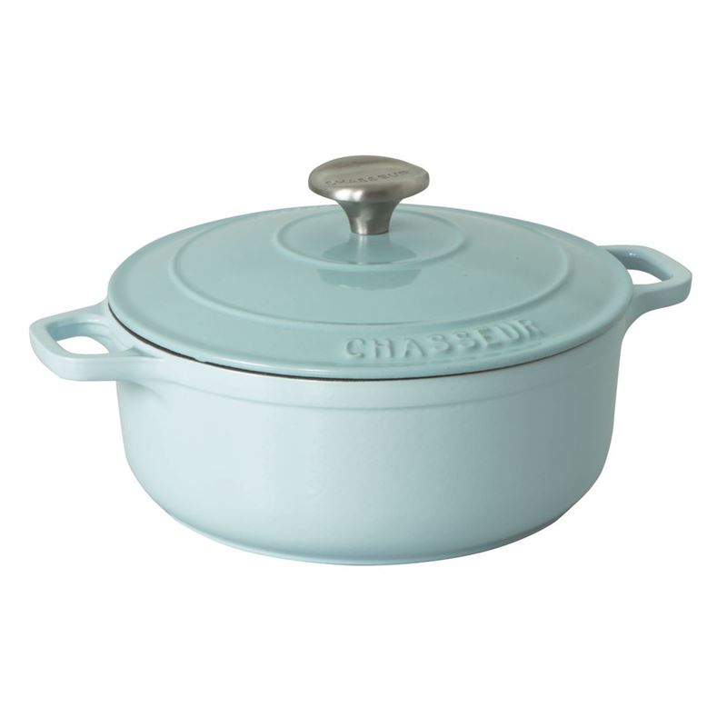 Chasseur Cast Iron – Duck Egg BlueRound French Oven 24cm 4Ltr (Made in France)