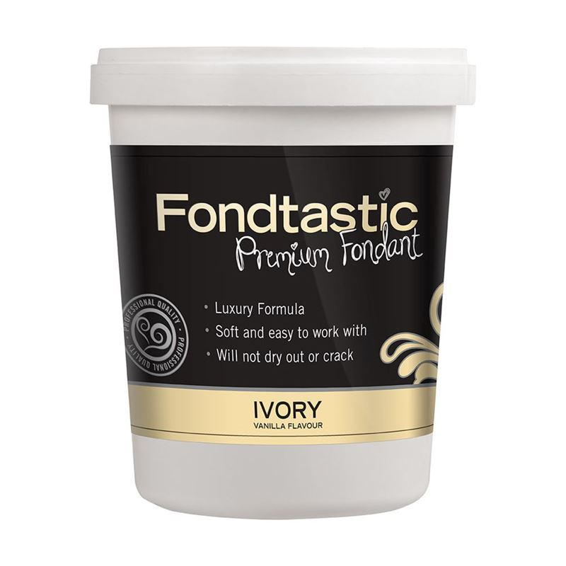 Fondtastic – Premium Rolled Vanilla Flavoured Fondant Ivory 908g (Made in Canada)