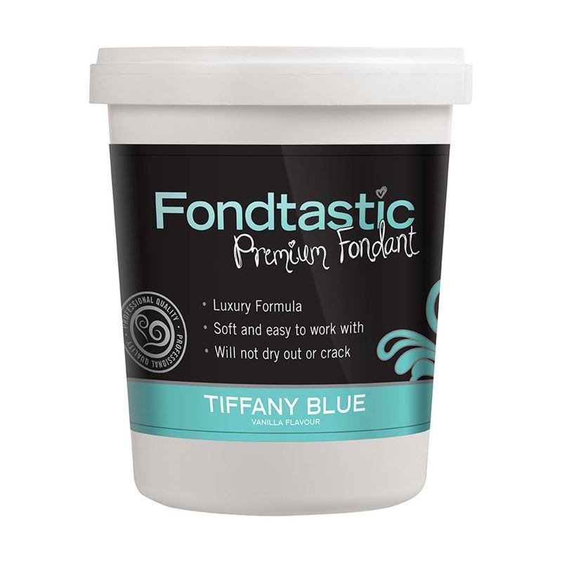 Fondtastic – Premium Rolled Vanilla Flavoured Fondant Tiffany Blue 908g (Made in Canada)