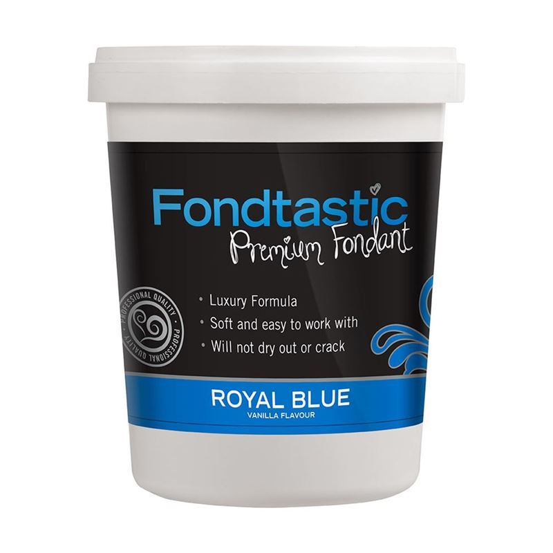 Fondtastic – Premium Rolled Vanilla Flavoured Fondant Royal Blue 908g (Made in Canada)