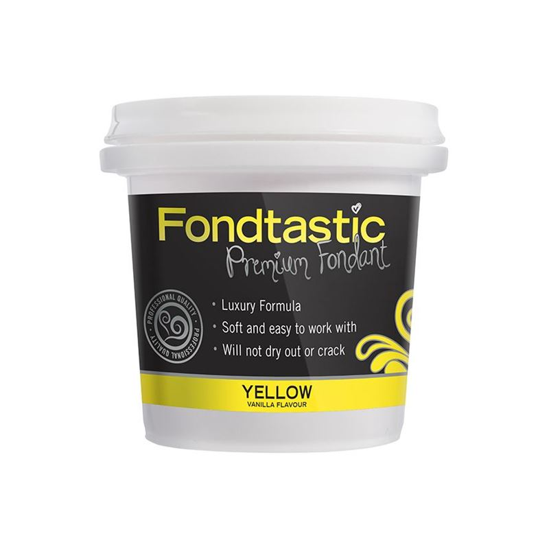 Fondtastic – Mini Premium Rolled Vanilla Flavoured Fondant Yellow 226g (Made in Canada)