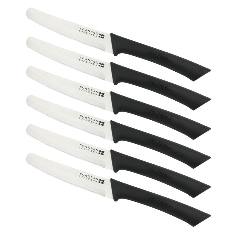 Scanpan – Soft Touch Spectrum Steak Knife set Black