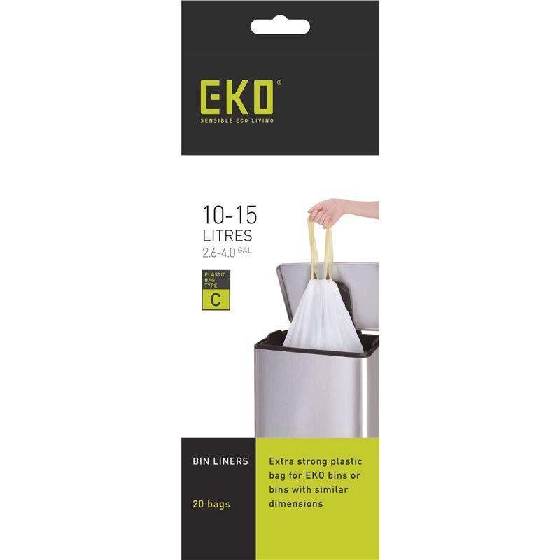 Eko – Can Bin Liners 12-15Ltr Pack of 20