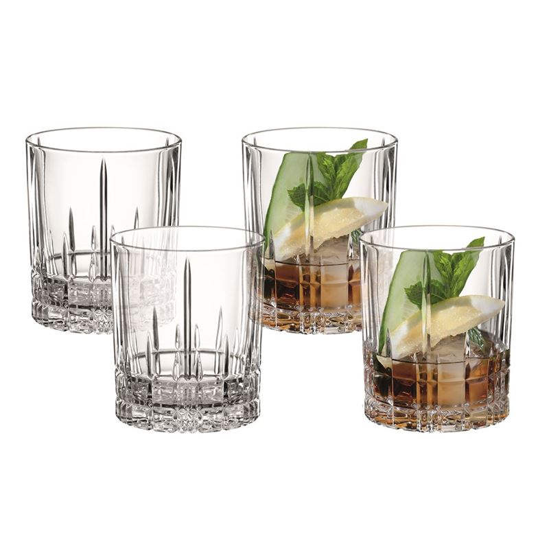 Spiegelau – Perfect Serve Collection by Stephan Hinz Double Old Fashioned 368ml Set of 4 (Made in Germany)