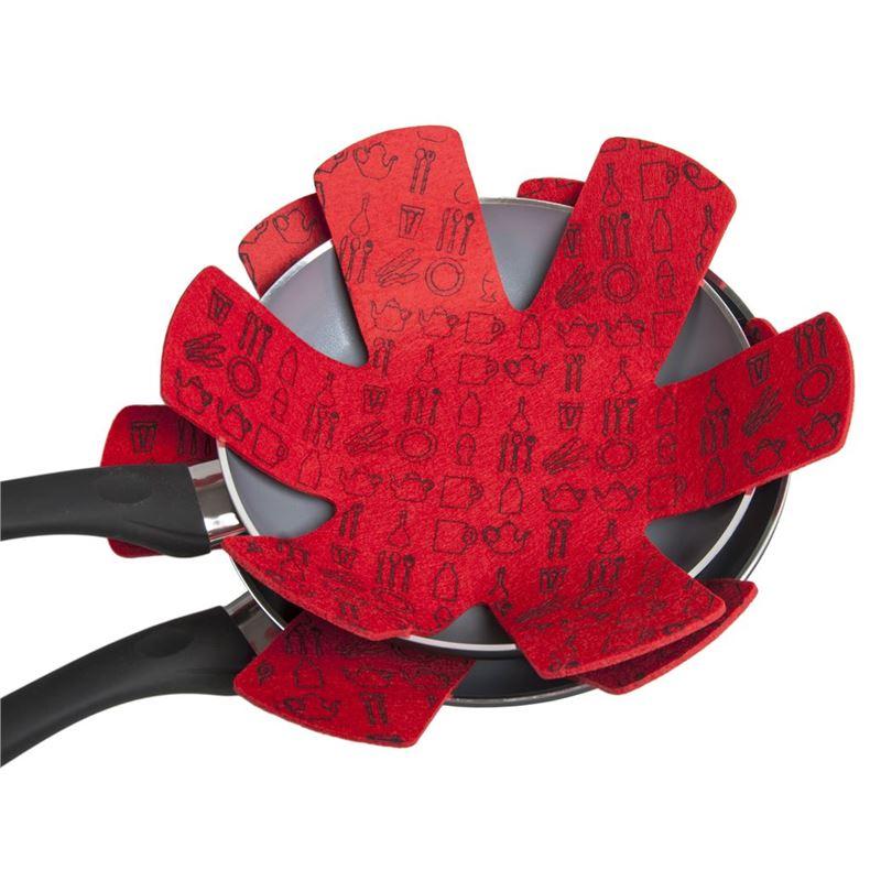 Appetito – Pot and Pan Felt Protectors set of 2 Red