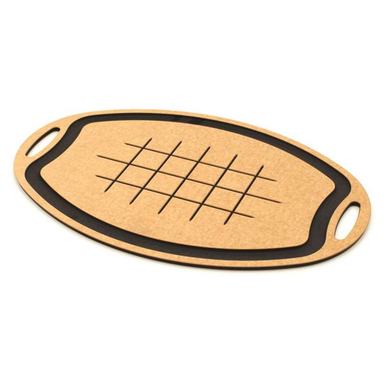 Epicurean – Carver Cutting Board Oval 60x39cm Natural/Slate (Made in the U.S.A)