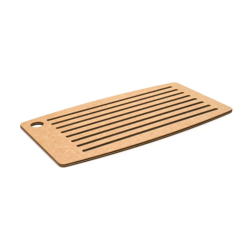 Epicurean – Grooved Bread Board 46x25cm Natural/Slate (Made in the U.S.A)