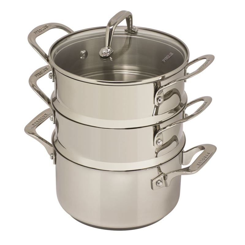 Pyrolux – Stainless Steel 3 Tier Steamer 18cm