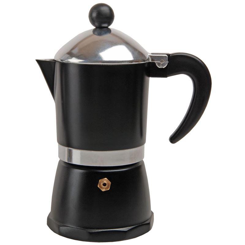 Tradizione Italiana by Benzer – Barista Coffee Maker 6 Cup Matt Black
