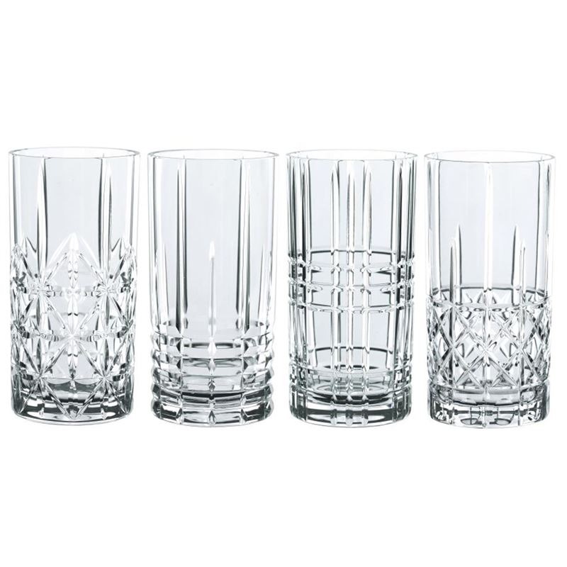 Nachtmann Crystal – Highland Mixed Long Drink 445ml set of 4 (Made in Germany)