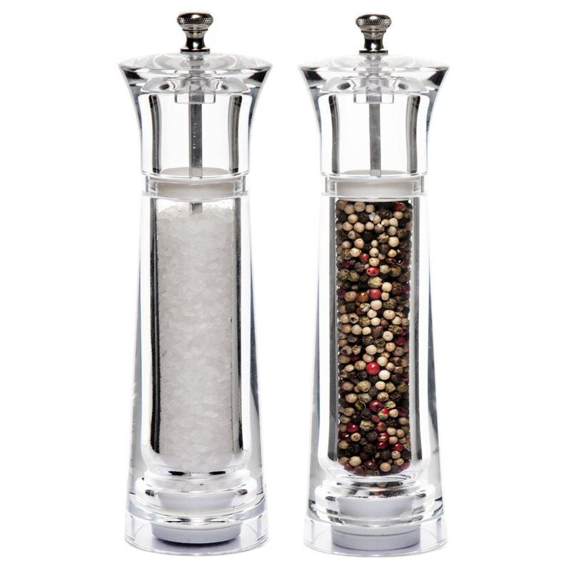 Benzer – Baron Premium Grind Acrylic Salt & Pepper Mill Set 20cm