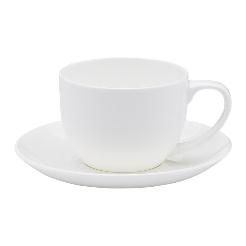 Ecology – Canvas White Fine Bone China Tea Cup and Saucer