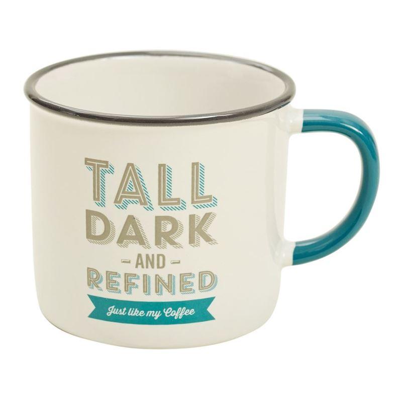 Jamie Oliver- Slogan Mug Tall Dark and Refined 340ml