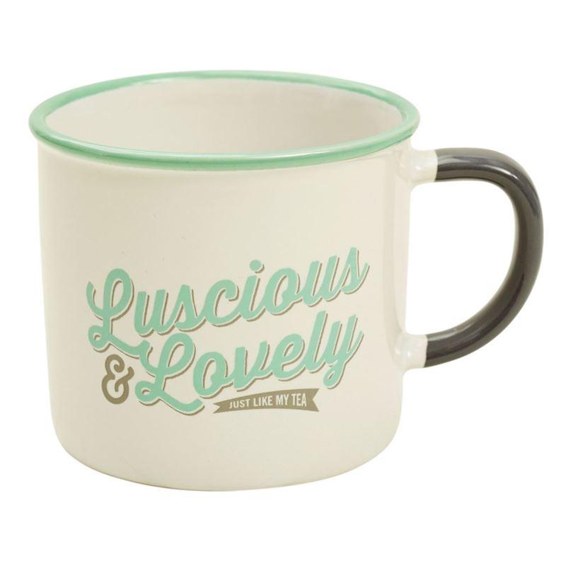 Jamie Oliver- Slogan Mug Luscious and Lovely 340ml