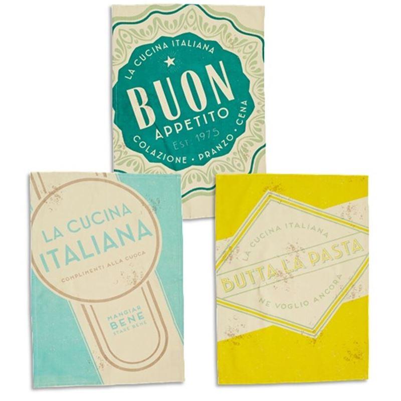Jamie Oliver – Vintage Italiana Style Set of 3 Tea Towels 70x50cm