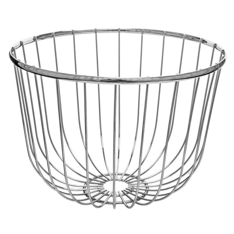 Zuhause – Spun Chrome Centrepiece Bowl 30x20cm